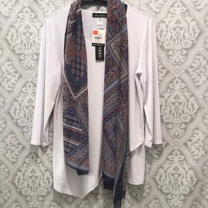 Blouse with scarf! Both new, with tags